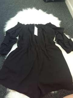 BNWT off shoulder playsuit