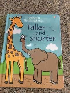 BNIP Usborne taller and shorted book