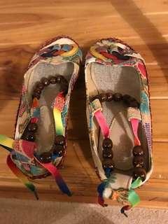 Cute hippie shoes