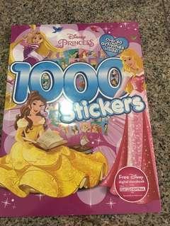 BNIP Disney Princess sticker book
