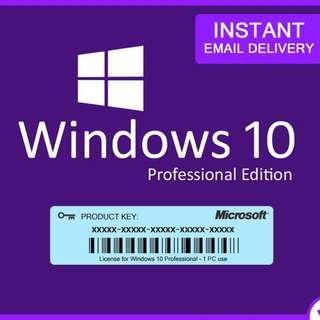 永久正版授權 Windows10 Professional Edition License Key
