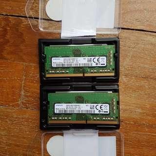 Samsung 2x8GB laptop DDR4 sodimm 2666mhz