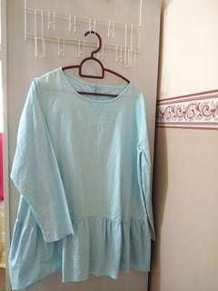 Maternity Blouse Light Blue
