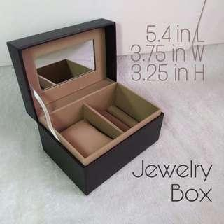 Dark Brown Faux Leather Watch & Jewelry Organizer