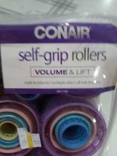 Self grip hair curler