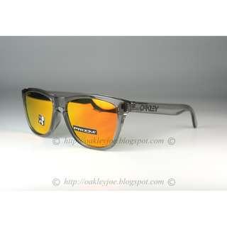 55accc9350 BNIB Oakley Frogskins Asian Fit grey ink + prizm ruby lens sunglass shades