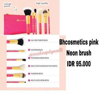 Bhcosmetics pink neon brush - 6pcs