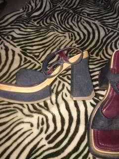 90s bratz platform chunky heels
