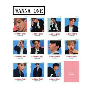 Wanna One To Be One Postcard