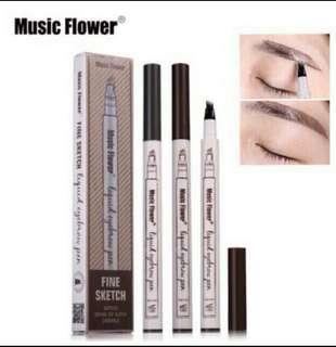 Music Flower Liquid Eyebrow Pen