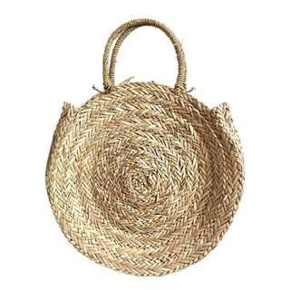 Bohemia Round Woven Bag 🌙