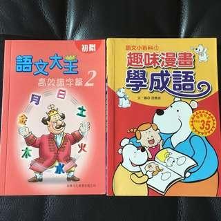 兒童圖書 趣味漫畫學成語、語文大王 高效識字編2