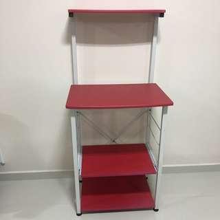 Red Kitchen Shelf
