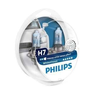Philips whitevision / Osram LTA approved headlight bulbs for cars and motorcycle ( VW Volkswagon scirocco golf jetta passat BMW Audi Mercedes Volvo Toyota Honda Kia Hyundai Subaru Opel Mitsubishi Nissan Suzuki Mazda Renault ) H7 H4 HB4 HB3 H11 H8