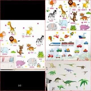 Kids wall stickers - Animals, transport, dinosaurs