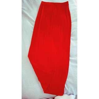NEXT Red Maxi Skirt