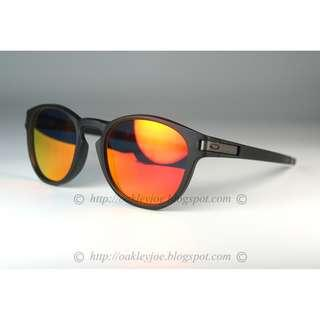 de8c8d7586 ... top quality bnib oakley custom latch asian fit matte black ruby iridium  lens sunglass shades 9d422 ...