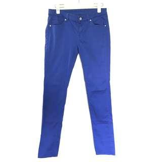 Uniqlo skinny fit straight jeans blue