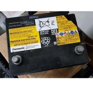 (二手中古電池) 油電車專用輔助電池 Panasonic S55D23L-免保養汽車電池 數值漂亮,品項優