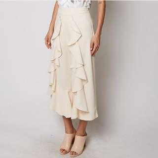 MDS RUFFLE FLARE CULOTTES PANTS