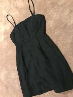 Ava 4 Ever Black Linen Mini Dress