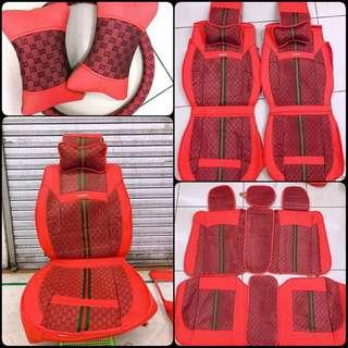 Gucci Red Leather Car Seat Cover
