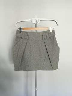 Topshop Grey Mini Skirt