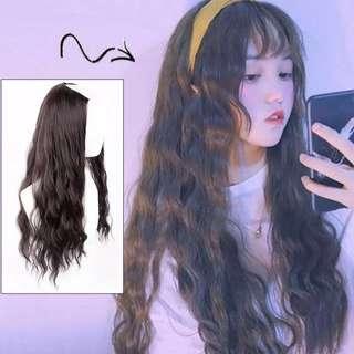 black clip on hair extension