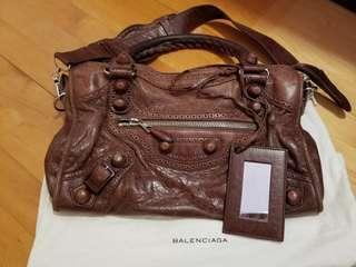 Balenciaga city bag brown