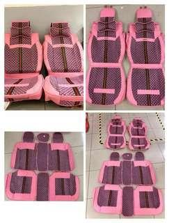 Gucci pink leather car seat cover