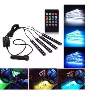 4x 12v 9 LED light car light wireless music