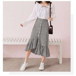 d6f45226c9 midi skirt checkered | Women's Fashion | Carousell Singapore
