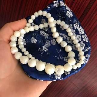 貝殼珍珠項鍊