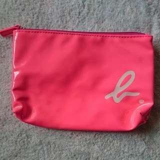 Agnes. B Bright Pink Vinyl Zipper Pouch