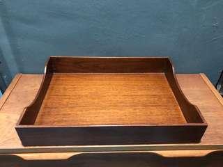 Vintage industrial wood tray tools box 70s