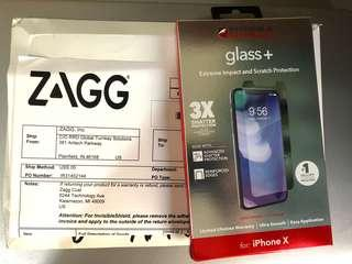 Zagg Invisible Shield Glass + for Iphone X