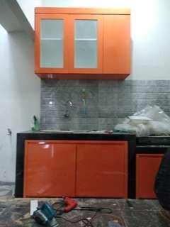 Kitchen set, lemari baju, etalase toko, backdrobe tv, lemari