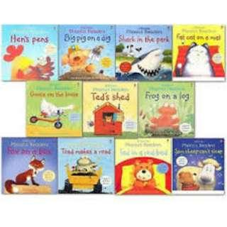 USBORNE PHONICS READERS CONTAINS 12 TITLES + 1 CD