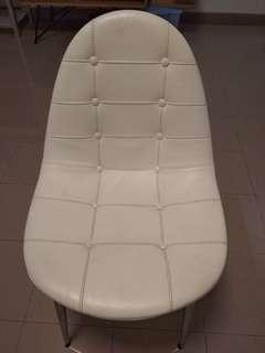 Caprice White Leather Chair