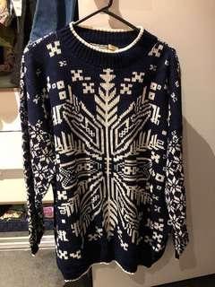 Vintage snowflake sweater