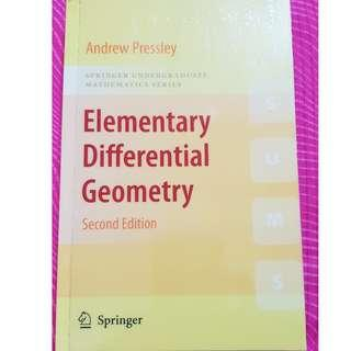 Elementary Differential Geometry 2nd Edition by Andrew Pressley