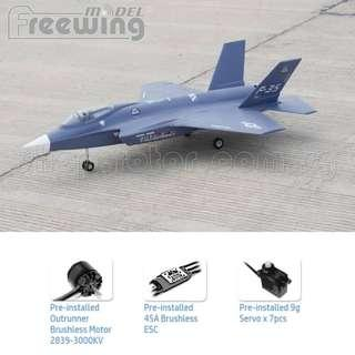 Suitable for Intermediate Pilot, FreeWing Model F-35 Lightning II V2 70mm EDF Electric Ducted Fan Fighter Jet Airplane, Wingspan 800mm, Plug-and-Play, PNP | F35 | Code: FJ20111P