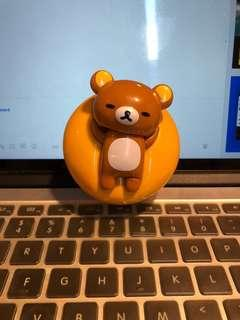 Rilakkuma relaxing on a burger (McDonald's happy meal toy 2018) TSW
