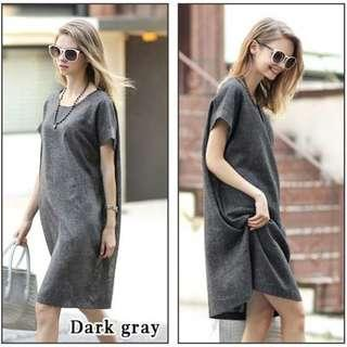 BN Dark Grey Plus Size Work Dress - 3XL (FREE POSTAGE)
