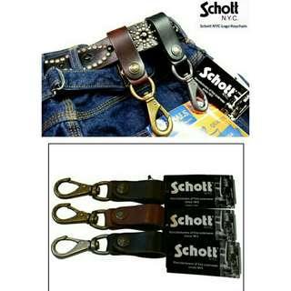 Schott N.Y.C. Logo Keychain