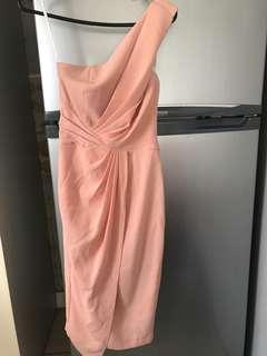 FREE SHIPPING Sheike size 6 peach pink dress