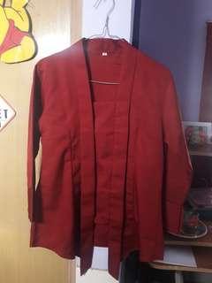 Kebaya Kutu Baru ( Merah Maroon )