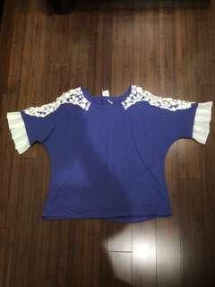 Kasheica lace shoulder top