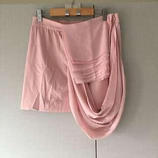 Coexist Skirt with Draping (Blush)