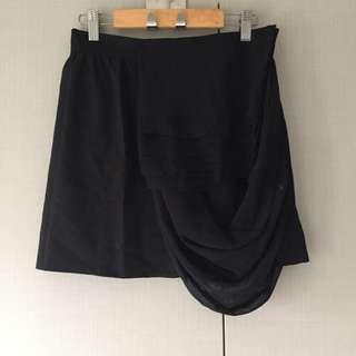 Coexist Skirt with draping (Black)